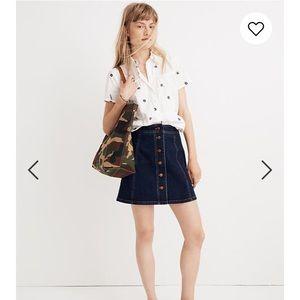 NWOT Madewell Stretch Denim A-line Skirt